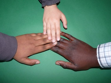 Different hands together