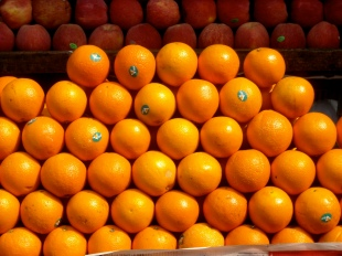 Bulk of oranges