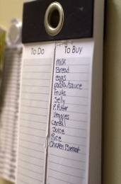 Use a grocery list