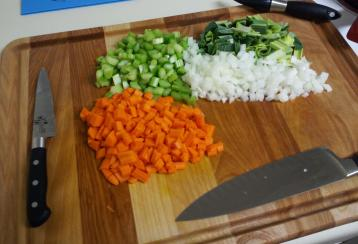 Pre-cut vegetables
